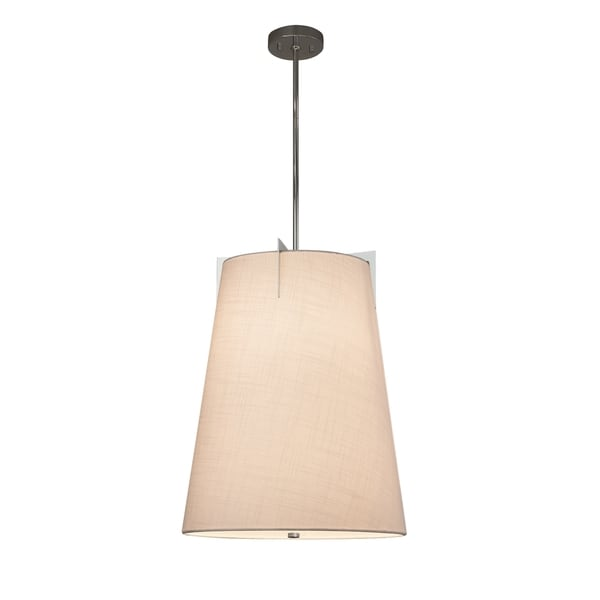 Justice Design Group Textile Midtown 2-light Polished Chrome Pendant, White Shade