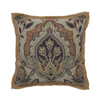 CROSCILL CALLISTO Square Decorative Throw Pillow (18-inches)