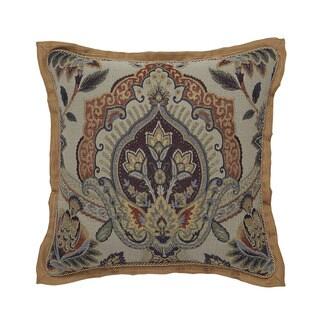 CROSCILL CALLISTO Square Decorative Throw Pillow (18-inches)