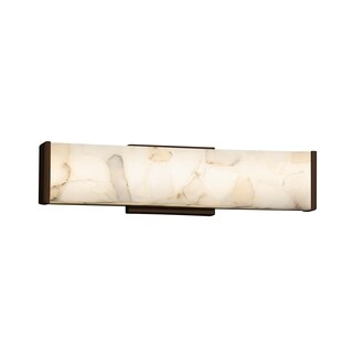 Justice Design Group Alabaster Rocks Latitude 19-inch Dark Bronze ADA Wall/ Bath Bar