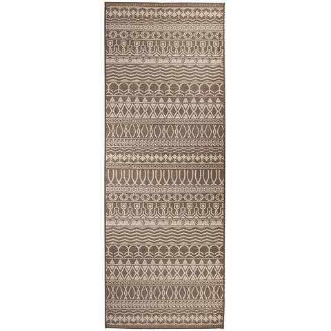 "RUGGABLE Washable Stain Resistant Runner Rug Cadiz Espresso - 2'6"" x 7'"