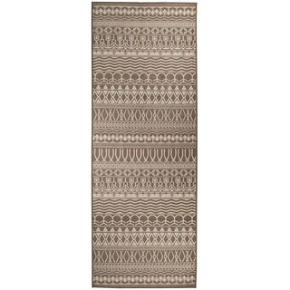 "RUGGABLE Washable Indoor/Outdoor Stain Resistant Runner Rug Cadiz Espresso (2.5' x 7') - 2'6"" x 7'"
