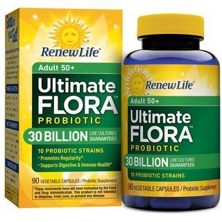 Renew Life Ultimate Flora Adult 50+ Probiotic 30 Billion (90 Capsules)