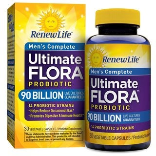 Renew Life Ultimate Flora Men's Complete 90 Billion (30 Vegetarian Capsules)