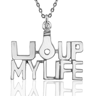 "Sterling Silver ""You Light Up My Life"" Pendant with Chain"
