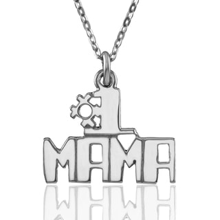 """Sterling Silver """"#1 MAMA"""" Pendant with Chain"""