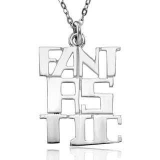 """Sterling Silver """"FANTASTIC"""" Pendant with Chain"""