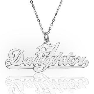 """Sterling Silver """"#1 Daughter"""" Pendant with Chain"""