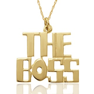Chroma 10k Yellow Gold The Boss Pendant With Chain