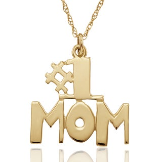 Chroma 10k Yellow Gold #1 MOM Pendant With Chain