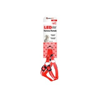 Simple Pet LED Dog Harness in Red, Small