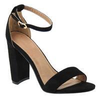 Beston ID67 Women's Wrapped Heel Ankle Strap Dress Heel Sandal