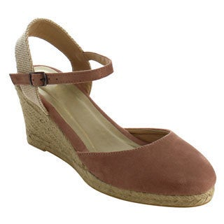 Beston ID90 Women Espadrille Ankle Strap Platform Wedge Sandals One Size Small