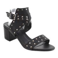 Beston FJ57 Women's Block Heel Studded Ankle Strap Sandals Half Size Small