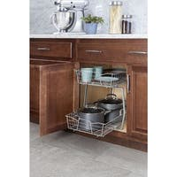 ClosetMaid 2-tier Nickel Pull-out Cabinet Organizer