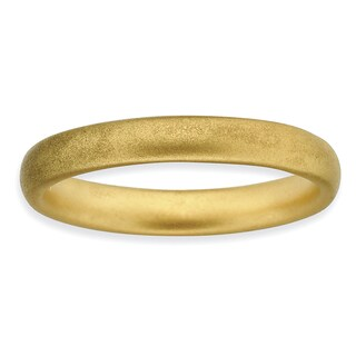Sterling Silver Affordable Expressions Gold-plated Satin Ring