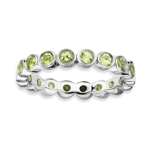 Sterling Silver Affordable Expressions Peridot Ring