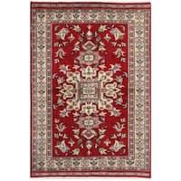 Handmade Herat Oriental Pakistani Bokhara Wool Rug - 4' x 5'10 (Pakistan)