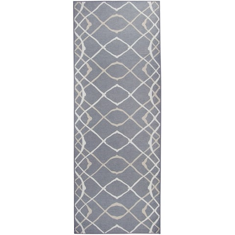 "RUGGABLE Washable Stain Resistant Runner Rug Amara Grey - 2'6"" x 7'"