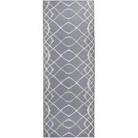 "RUGGABLE Washable Indoor/Outdoor Stain Resistant Runner Rug Amara Grey (2.5' x 7') - 2'6"" x 7'"