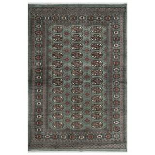 Handmade Herat Oriental Pakistani Bokhara Wool Rug (Pakistan) - 4'2 x 6'2