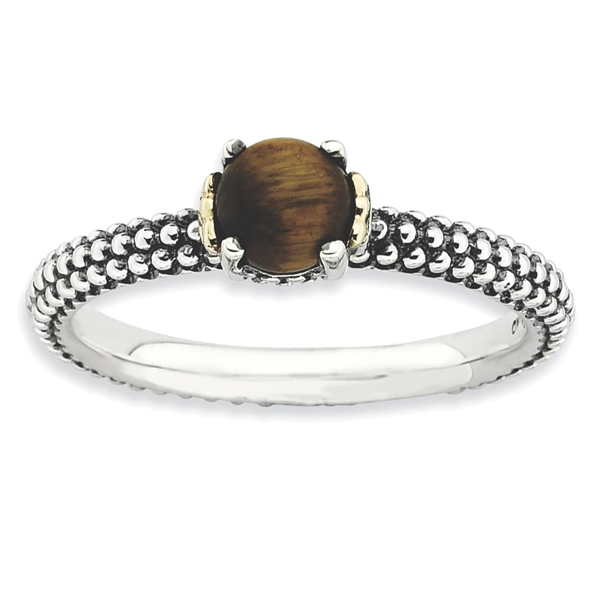 Sterling Silver & Affordable Expressions Tiger'S Eye Anti...