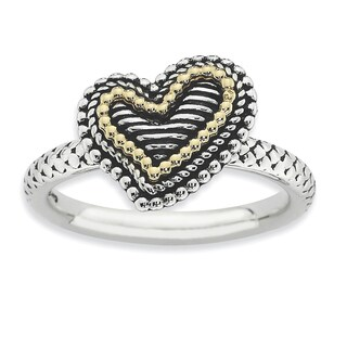 Sterling Silver & Affordable Expressions Antiqued Heart Ring