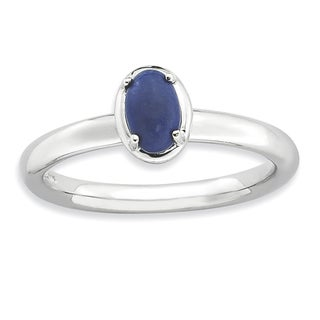 Sterling Silver Affordable Expressions Lapis Polished Ring