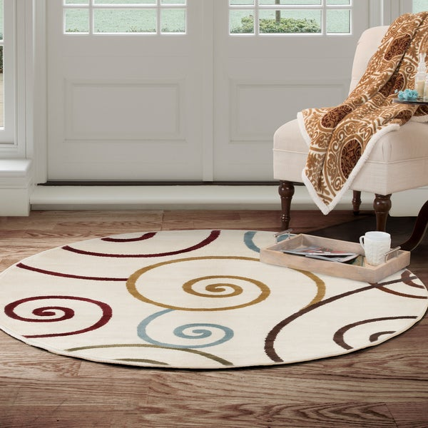 Shop Round Area Rug 5 Foot Stain Resistant Circle Rug By Windsor