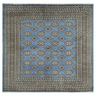 Herat Oriental Pakistani Hand-knotted Bokhara Wool Rug (6'9 x 6'9)