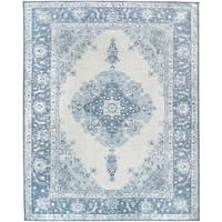 RUGGABLE Washable Indoor/ Outdoor Stain Resistant Pet Area Rug Parisa Blue - 8' x 10'