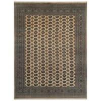 Handmade Herat Oriental Pakistani Bokhara Wool Rug (Pakistan) - 9' x 12'1