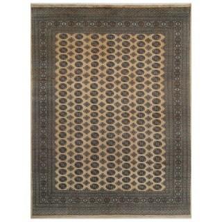 Herat Oriental Pakistani Hand-knotted Bokhara Wool Rug (9' x 12'1)