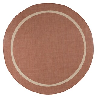 8 ft Round Area Rug, Indoor Outdoor Stain Resistant & Water Repellant by Windsor Home (Accent Rug for Home Decor)