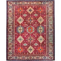 RUGGABLE Washable Indoor/ Outdoor Stain Resistant Pet Area Rug Noor Ruby (8' x 10') - 8' x 10'