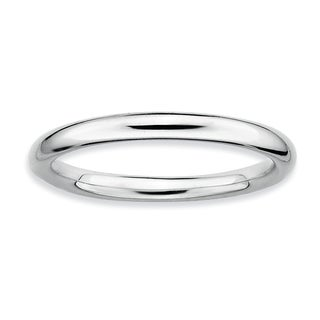 Sterling Silver Affordable Expressions Rhodium Polished Ring (More options available)