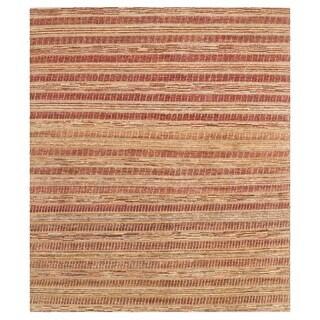 Herat Oriental Afghan Hand-knotted Vegetable Dye Gabbeh Wool Rug (6'6 x 7'9)