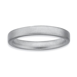 Sterling Silver Affordable Expressions Rhodium Satin Ring