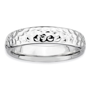 Sterling Silver Affordable Expressions Rhodium Ring