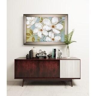 White Blossoms -Silver Frame