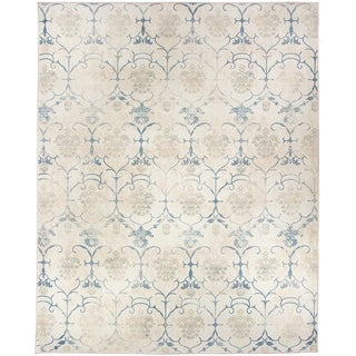 RUGGABLE Washable Indoor/ Outdoor Stain Resistant Pet Area Rug Leyla Creme Vintage (8' x 10') - 8' x 10'