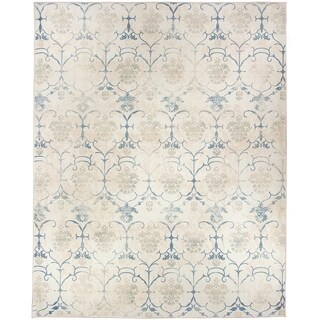 RUGGABLE Washable Indoor/ Outdoor Stain Resistant Pet Area Rug Leyla Creme Vintage - 8' x 10'