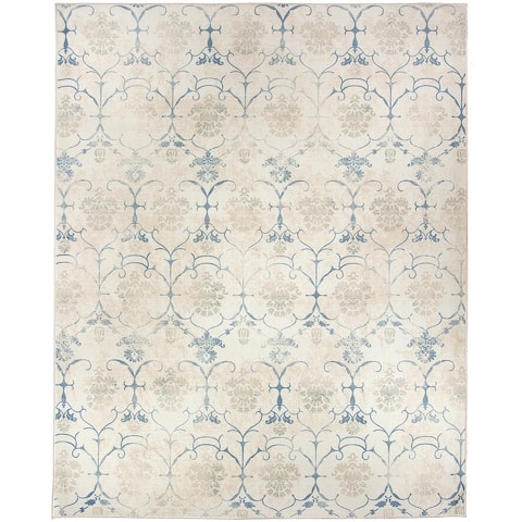 RUGGABLE Washable Stain Resistant Pet Area Rug Leyla Creme Vintage - 8' x 10'