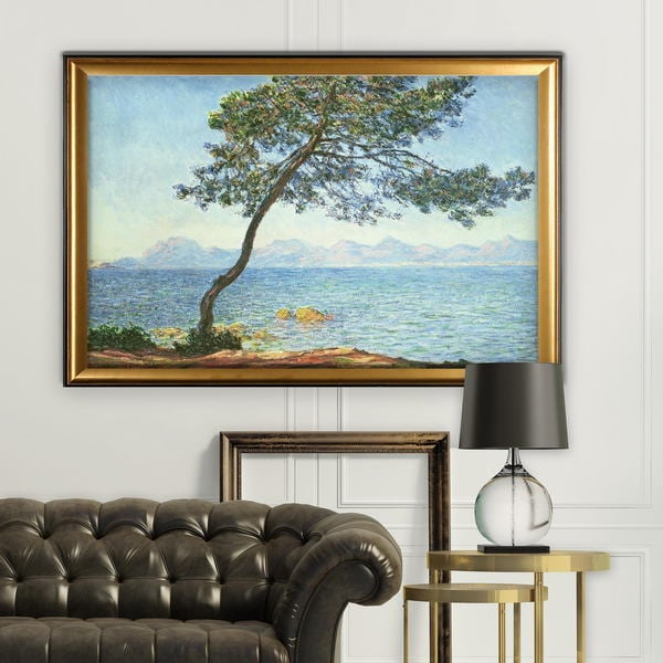 Esterel-Mountains -Claude Monet - Gold Frame