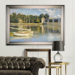 The-Bridge -Claude Monet -Silver Frame