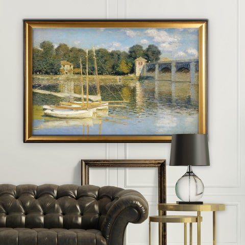The-Bridge -Claude Monet - Gold Frame