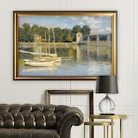The-Bridge -Claude Monet - Gold Frame