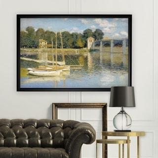 The-Bridge -Claude Monet - Black Frame