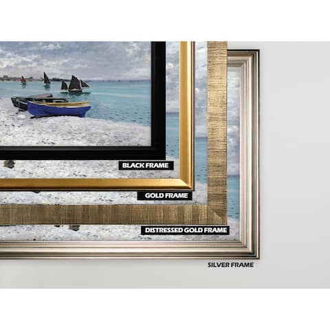 The-Beach -Claude Monet -Silver Frame