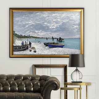 The-Beach -Claude Monet - Gold Frame